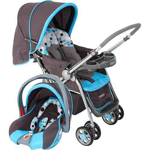 Tudo sobre 'Carrinho de Bebê Travel System Reverse Azul - Cosco'