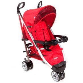 Carrinho de Bebê Umbrella Deluxe Vermelho