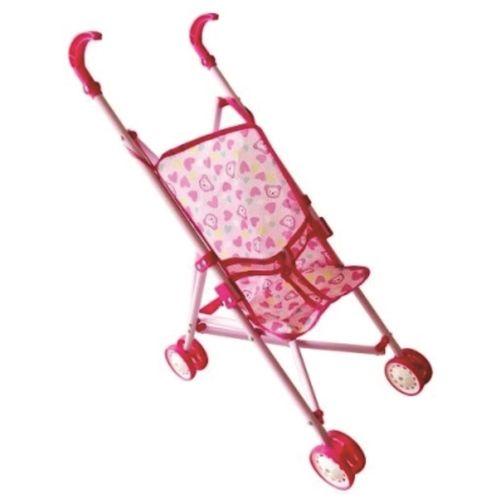 Carrinho de Boneca Rosa de Plástico