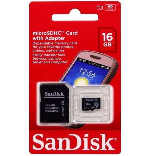 Cartão de Memória 16 GB Sandisk