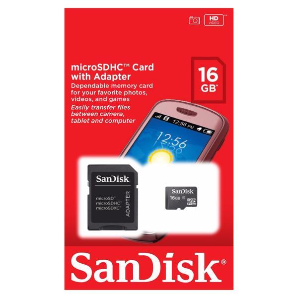 Cartão de Memória 16gb - Sandisk