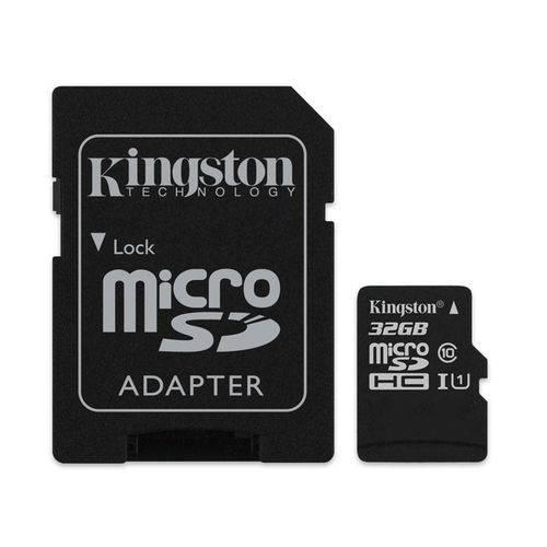 Tudo sobre 'Cartao de Memoria 32gb Microsd Kingston Classe 10 com Adaptador - Sdcs/32gb'