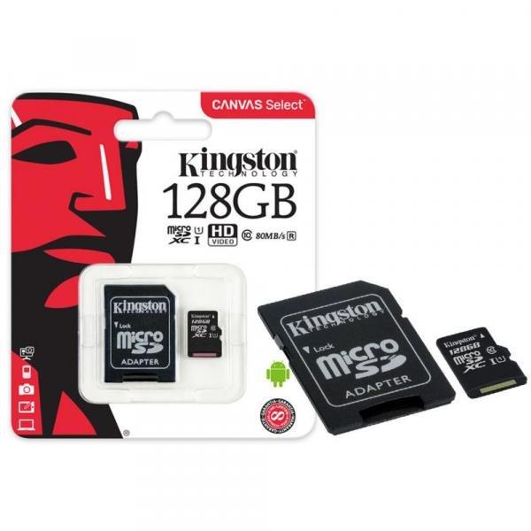 Cartão de Memoria Micro SD Kingston 128GB C10