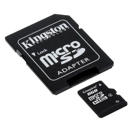 Cartão de Memória Sd-8gb Kingston - Micro Sd 2 em 1