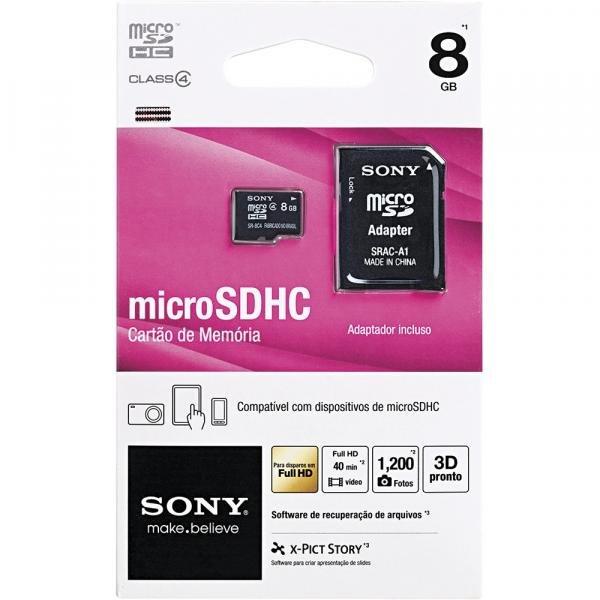 Cartão de Memória Sony Micro SR-8A4, 8GB - Sony