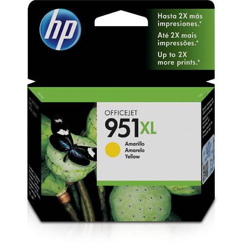 Cartucho de Tinta HP 951XL - Alto Volume - Amarelo - CN048AL