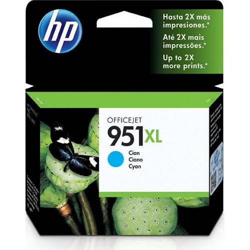 Cartucho de Tinta HP 951XL - Alto Volume - Ciano - CN046AL