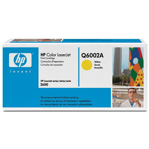 Cartucho de Toner HP Color LaserJet - Amarelo Q6002A - HP