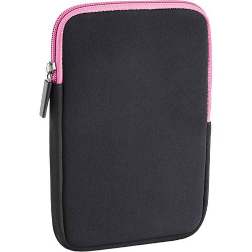 "Case Multilaser Colors Neoprene 10"" - Preto e Rosa"
