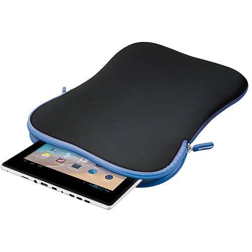 """Case Multilaser Neoprene para Tablet 10"""" - Preto e Azul"""