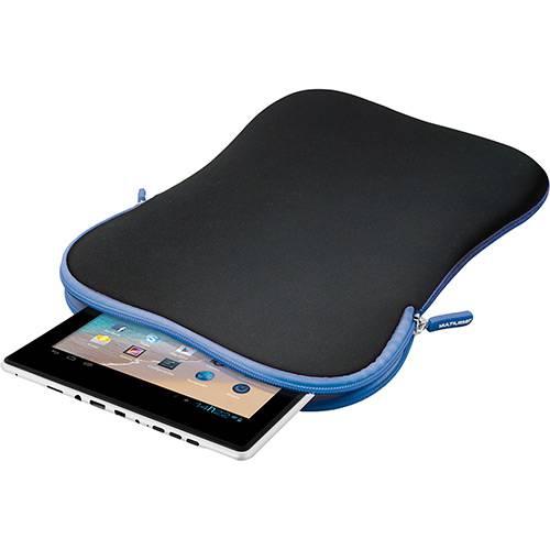 """Case Multilaser Neoprene para Tablet 7"""" - Preto e Azul"""