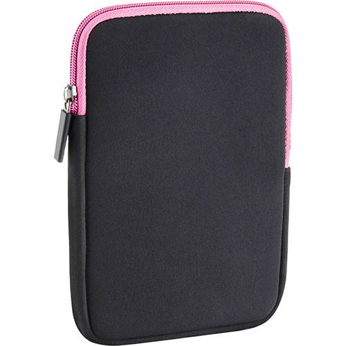 Case Neoprene 14'' a 15'' Colors Preto e Rosa - Multilaser