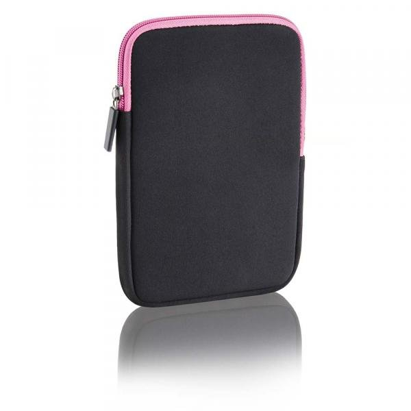 Case Neoprene Multilaser 10Pol. Colors Preto e Rosa - BO140