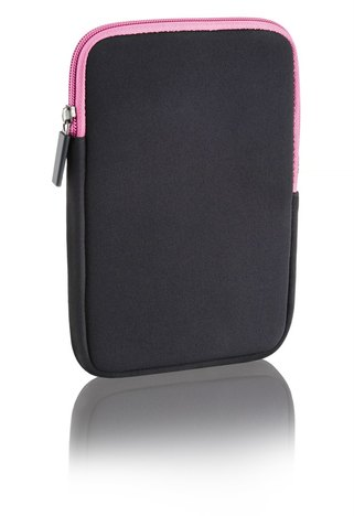 Case Neoprene Multilaser 10Pol Colors Preto e Rosa Bo140