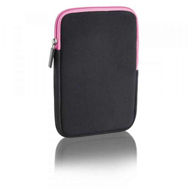 Case Neoprene Multilaser 7Pol Colors - Preto e Rosa - BO116