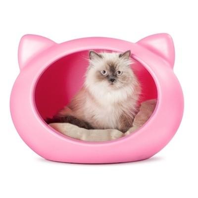 Tudo sobre 'Casinha para Gato Cat Cave com Almofada (Rosa)'