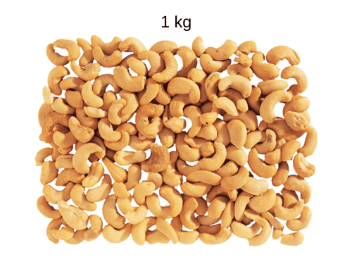 Castanha de Caju Torrada Sem Sal (W1) 1 Kg
