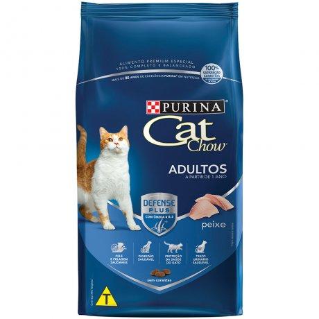 Tudo sobre 'Cat Chow Gatos Adultos Sabor Peixe 1kg -'