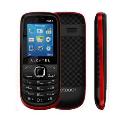 Celular Alcatel One Touch Radio Fm , Mp3, Dual Sim - 316g - Preto/Vermelho