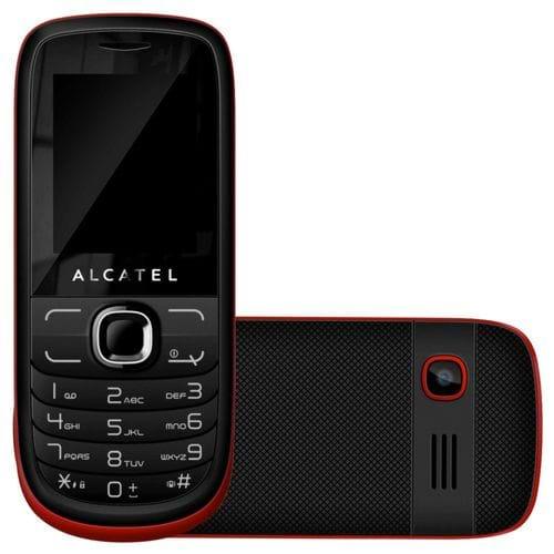 """Celular Alcatel OT 316G, Dual Chip, Mp3, Rádio Fm, Tela 1.8"""" Preto /Vermelho"""