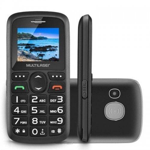 "Celular Dual Chip Tela 1.8"" Câmera Bluetooth Rádio Fm Multilaser Vital..."