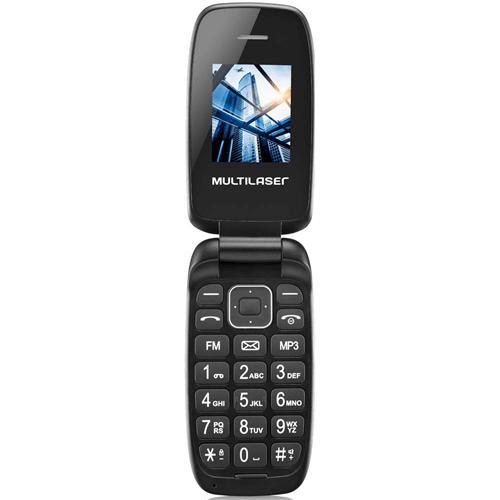 Celular Flip Up Câmera MP3 Dual Chip - Preto Multilaser - P9022