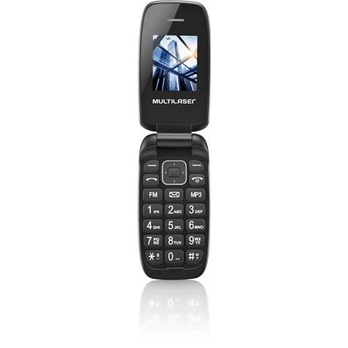 Celular Flip UP Dual Chip MP3 Preto Multilaser P9022 P9022