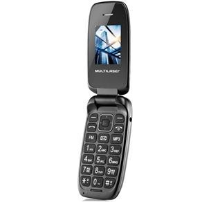 Celular Flip Up Dual Chip MP3 Preto Multilaser P9022
