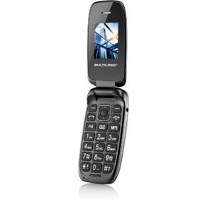 Celular Flip Up Multilaser Dual Chip MP3 Preto - P9022