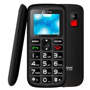 """Celular Lenoxx CX 906 Preto com Tela 1.8"""", Dual Chip, Câmera VGA, Bluetooth e Rádio FM"""