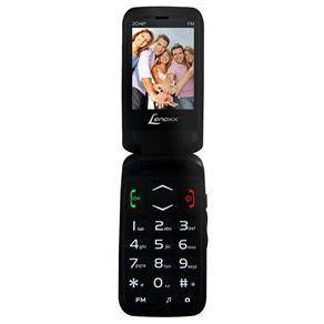 """Celular Lenoxx CX 908 Preto com Tela 2.4"""", Dual Chip, Câmera VGA, Bluetooth, MP3 e Rádio FM"""