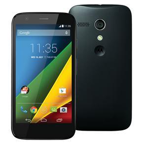 Celular Moto G™ Single Chip Preto com Tela de 4.5'', Android 4.3, Wi-Fi, 3G/4G, Câmera 5MP e Processador Quad-Core de 1,2 GHz