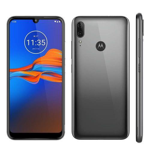 Celular Motorola Moto E6 Plus 64 GB 4GB Cinza Metálico Câmera Dupla 13MP + 2MP