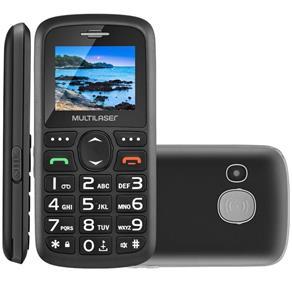 "Celular Multilaser P9048 1,8"" Dual Chip Desbloqueado 24MB RAM USB MP3 Cor Preto"