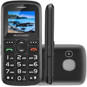 """Celular Multilaser Vita Dual Chip Tela 1,8"""" Usb e Bluetooth Preto"""