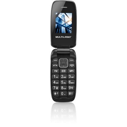 Celular P9022 Flip Up Dual Chip Mp3 Preto Multilaser