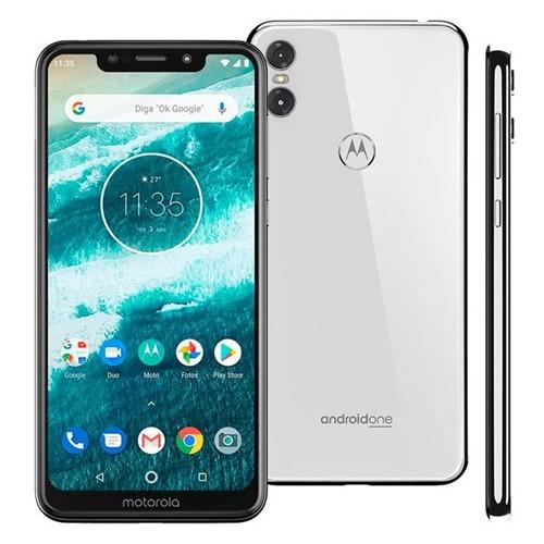 Celular Smartphone MotorolaOne Dual Chip 5,9'' Branco Branco