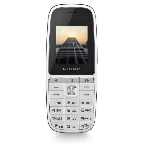 Celular UP Play Dual Chip MP3 com Camera Branco Multilaser P9077