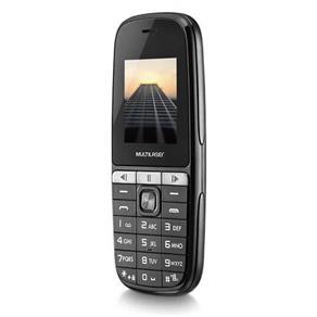 Celular Up Play Multilaser P9076, 2 Chips, Câmera, MP3 Player, Rádio FM e Bluetooth - Preto