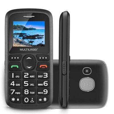 Celular Vita Dual Chip Tela 1,8 Pol. Usb e Bluetooth Multilaser Preto