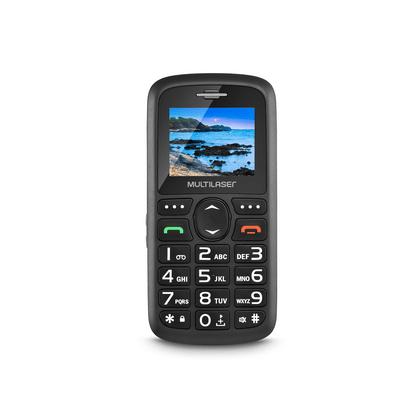 """Celular Vita Dual Chip Tela 1,8"""" USB e Bluetooth Preto Multilaser - P9048 P9048"""