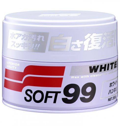 Tudo sobre 'Cera White Cleaner Soft99 para Carros Claros 350g 47'