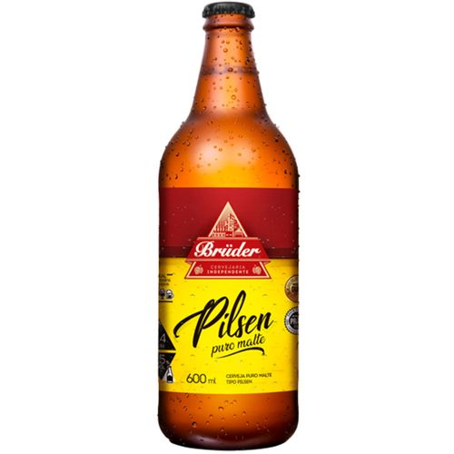 Cerveja Bruder Pilsen Garrafa 600ml