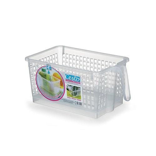 Cesto Organizador Plástico Incolor 13x16x26,5cm 3L Arthi