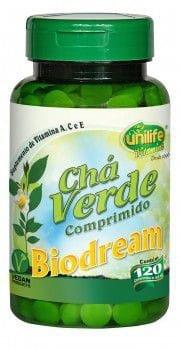 Chá Verde 120 Comprimidos 400mg Biodream - Unilife