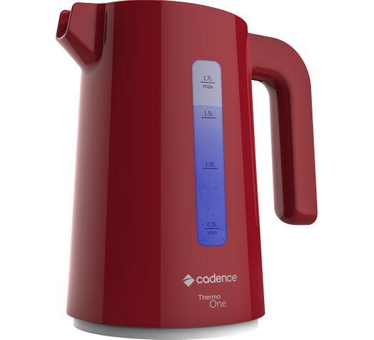 Chaleira Elétrica Cadence Thermo One Colors 1,7L Vermelha - 127V