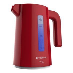 Chaleira Elétrica Cadence Thermo One Colors Vermelha 1,7lts 220V