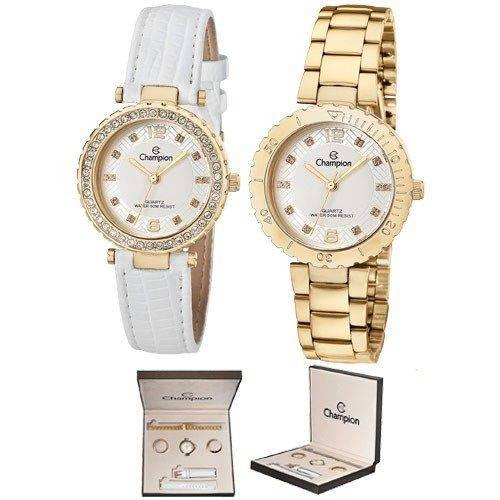 Tudo sobre 'Champion Feminino Dourado 2 Aros 2 Pulseiras Cn29203h Wr'