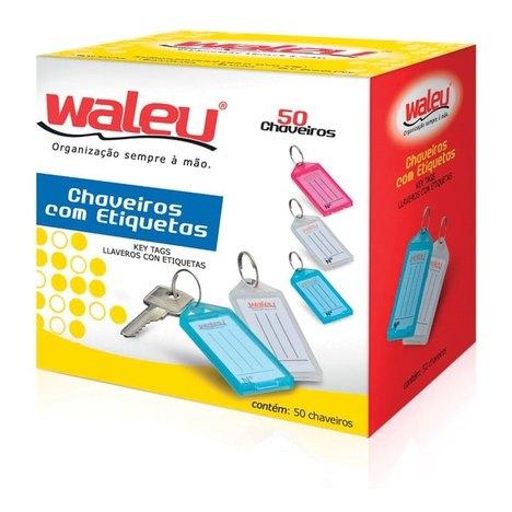 Tudo sobre 'Chaveiro C/ Etiqueta Cx C/ 50 - Waleu'