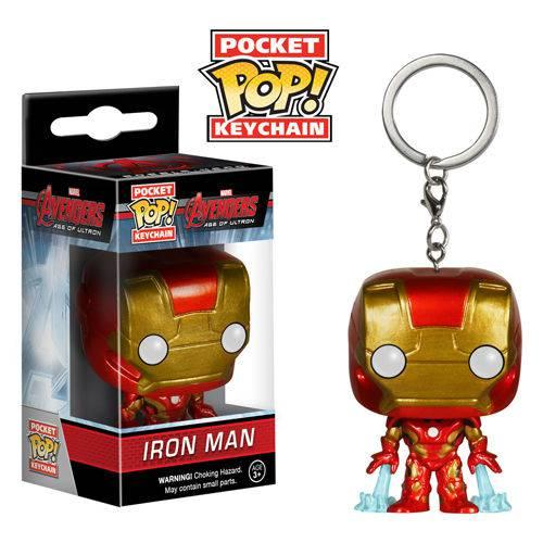 Tudo sobre 'Chaveiro Iron Man / Homem de Ferro - Funko Pop Pocket Vingadores - a Era de Ultron'